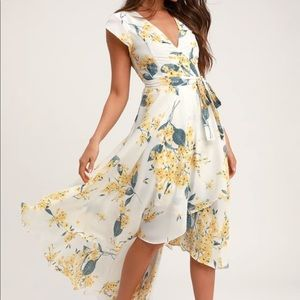 Lulu's French country side floral high low dress